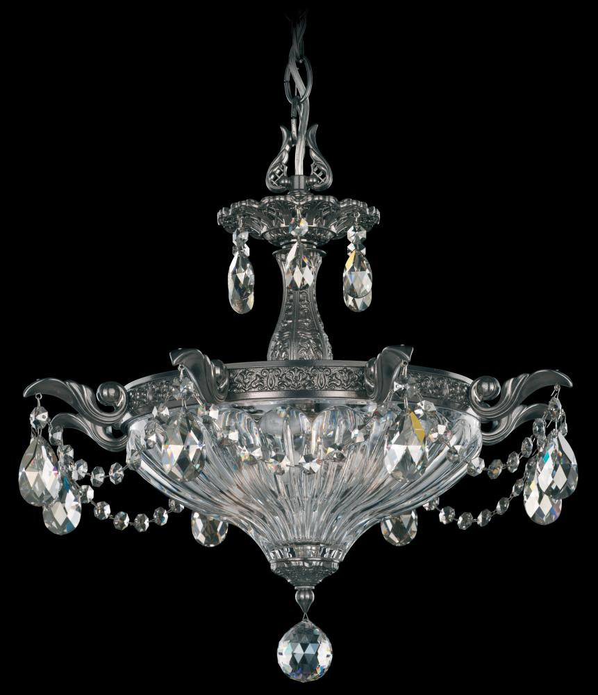 Milano 2 light 110v chandelier in roman silver with clear crystals milano 2 light 110v chandelier in roman silver with clear crystals from swarovski mozeypictures Gallery