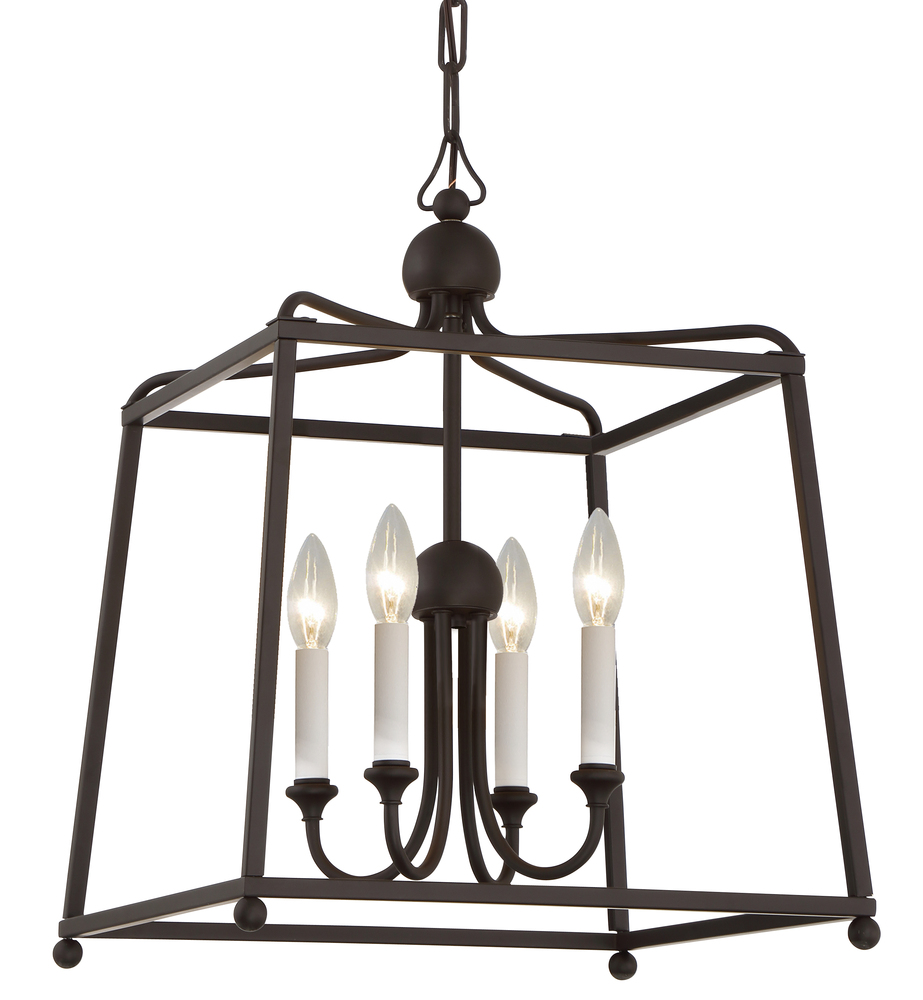 4 light dark bronze modern chandelier 2245 dbnoshade richmond 4 light dark bronze modern chandelier mozeypictures Gallery